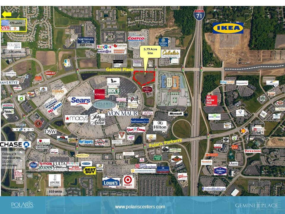 Mall Outlot 1 - Available Land - POLARIS Centers of Commerce